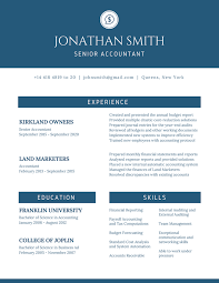 Senior Accountant Sample Resume by Elegant Best Resume Template Format 2016 For Senior Accountant
