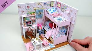 diy miniature beautiful doll house toys for kids gearbest