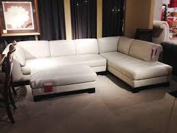 orange leather sectional sofa for wondrous living room design