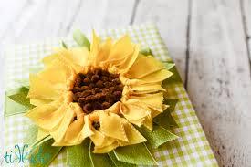 sunflower ribbon ribbon sunflower bow gift topper tutorial tikkido