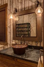 rustic cabin bathroom ideas lake tahoe getaway features contemporary barn aesthetic rustic