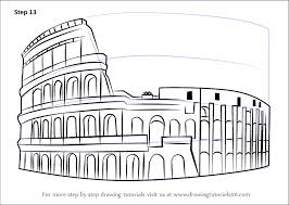 learn how to draw the colosseum wonders of the world step by