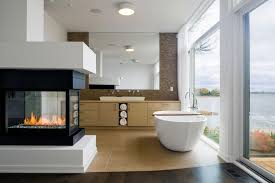 bathroom cool bathroom design with white oval bathtub and modern