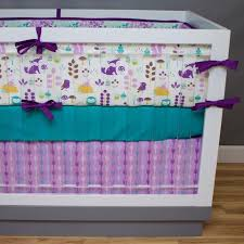 Teal And Purple Crib Bedding Modern Crib Bedding Custom Baby Bedding Unique Crib Bedding