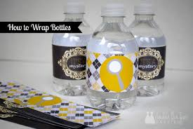 how to make printable water bottle labels