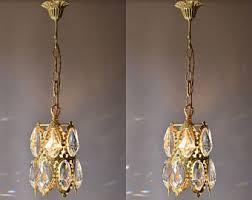Vintage Crystal Chandeliers Lantern Chandelier Etsy