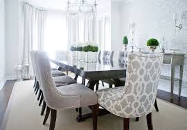Dining Chairs Grey Gray Velvet Dining Chairs Transitional Dining Room Decor