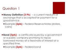 theme question definition problem set jan 14 question 1 money definition 3 pts a