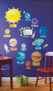 space theme ideas space decal wall stickers fun decor com let s children be the decorator of their own bedroom these space themed wall stickers allow children to create their own unique designs