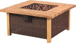 large fire pit table bond key largo rattan propane fire pit table reviews wayfair