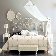 White Frame Beds Fancy Wrought Iron Beds With Silver Color Deco Pinterest
