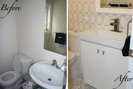 powder room renovation with the home depot canada collection of