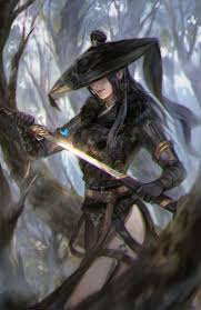 by li zi on artstation shadow thief female assassin ninja