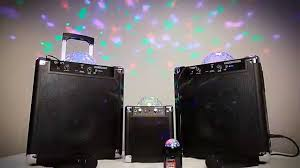 ion portable speaker system with party lights ion house party compact speaker system with built in lighting