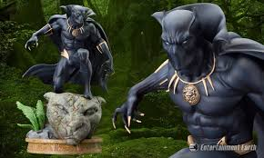 king t challa invites you to see the new marvel black panther statue