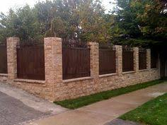 Low Brick Fence With Pillars And Box Hedge Boarder Bens - Brick wall fence designs