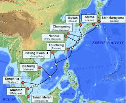 Map Of The Asia by Facebook Invests In 55 Terabit Intra Asia Submarine Cable System