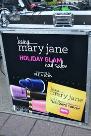 bet being mary jane holiday glam nail salon presented by revlon in