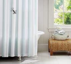 Shower Curtain Striped Pb Classic Stripe Shower Curtain Pottery Barn