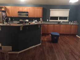 Painting Stained Kitchen Cabinets Great Interior Painting Update With A Beautiful Cabinet Update
