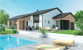 plan de maison de plain pied avec 4 chambres plain pied 4 chambres avec mezzanine au fil de l eau