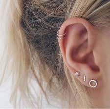 stud for ear best 25 ear piercings ideas on cartilage