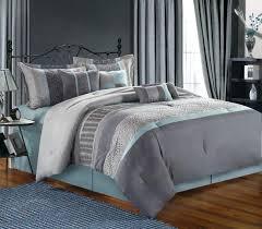 Contemporary Bedding Sets Grey Comforter King Beadroom Decor Idea White Modern Bedding Set