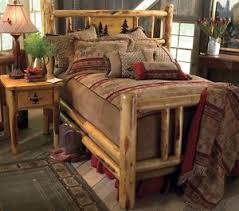 Country Bed Frame Custom Rustic Bed Frame Country Western Bedroom Cabin Log Wood