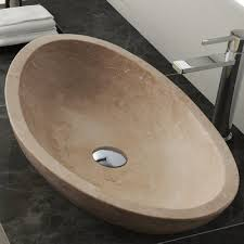 Maykke Maykke Livingston Stone Oval Vessel Bathroom Sink Wayfair