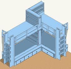 corner bunk beds built in bunk bed plans u2013 4 bed corner plan