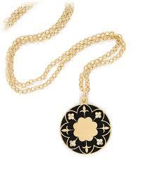 victorian necklace black images Language of flowers victorian mandala necklace engravable jpg