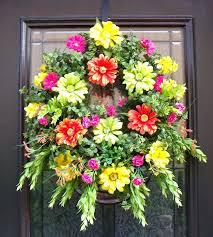 flower wreaths for front door grapevine summer wreath front door