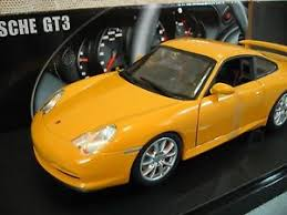 porsche gt3 ebay wheels porsche gt3 coupe yellow car die cast 1 18 scale in