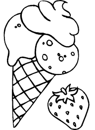 strawberry flavoured ice cream coloring page coloring sky