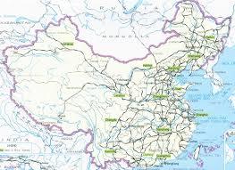 A Map Of China by China Rail Map China Railway China Train Railroad China