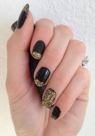 nails this week black with gold tips nails for nickels