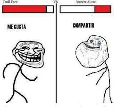 troll face me gusta forever alone compartir meme on me me