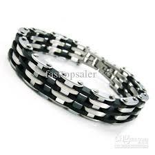 mens black steel bracelet images 2018 men 39 s black silver stainless steel bracelet chain 8 46 from jpg