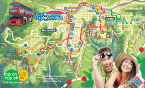 Scenic Route Map by Sydney Blue Mountains Hop On Hop Off Book Online