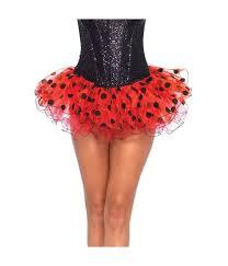 ladybug halloween costume womens red tutu skirt black polka dot ladybug clown halloween costume