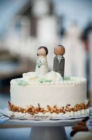wooden peg doll custom wedding cake topper by abbyjac on etsy