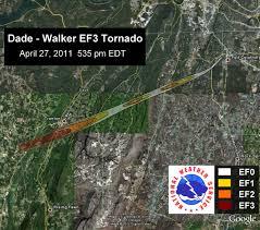 Tornado Map Dacula And Gwinnett County Weather April 27 28 2011 Tornado Dade