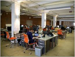 Creative Office Space Ideas Marvelous Creative Office Space Idea With High Ceiling And Orange