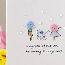baby card personalised button pram handmade new baby card by