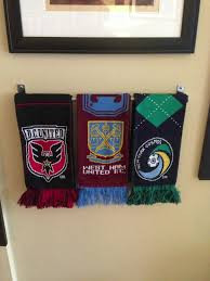 Creative Way To Hang Scarves by How To Display Your Soccer Scarves Properly Went To Ikea And