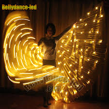 led light clothing gold 182 led wings for belly new