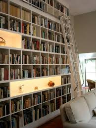 Rolling Bookcases Custom Rolling Ladder Bookcase Houzz