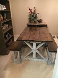 Farm House Tables Design Simple Farmhouse Kitchen Table With Bench Diy Farmhouse