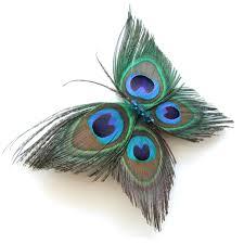 alijimshop 2018 butterfly peacock feather headband