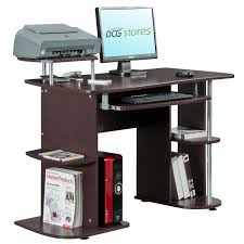 Computer And Printer Desk Printer Stand Mission Slat Panel Printer Stand With Open Shelf